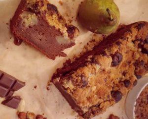 Moelleux Poire Chocolat et Crumble