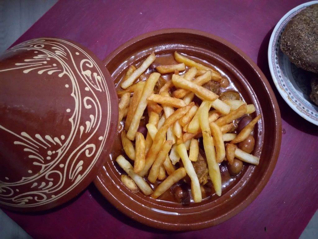 Tajine d'Agneau et Frites